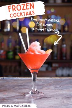 There's nothing tastier than a chilled cocktail on a summer's day - apart from a frozen one! Check out how to make frozen cocktails at home and grab the recipe for this tasty frozen watermelon slush and four others to celebrate the summer Cocktails Made With Rum, Frozen Cocktails, Easy Cocktails, Fun Drinks, Beverages, Summer Drink Recipes, Best Cocktail Recipes, Summer Food, Irish Cream Liquor