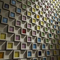 dent cube concrete wall tiles