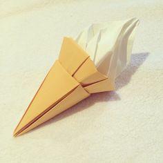 An origami ice cream.