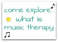 Come find out about music therapy and its applications for children and teens with special needs