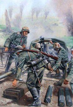 German Soldiers Ww2, German Army, Military Art, Military History, Military Drawings, Germany Ww2, Ww2 Pictures, Ww2 History, Panzer