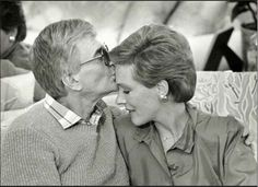 Julie Andrews and Blake Edwards - married 41 years Julie Andrews Mary Poppins, Emma Walton, Victor Victoria, Real Life Fairies, Blake Edwards, Black And White Portraits, Favorite Person, Favorite Things, Before Us