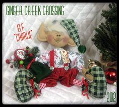 Primitive Raggedy Christmas 16 Elf Charlie 2012 Ginger Creek