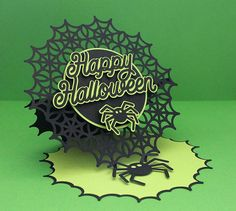 FREE DIY SVG and cut files 3D Spider Web Easel Card