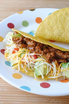 Easy Mole Tacos - uses the new Fire Roasted Tomato cooking sauce from Progresso