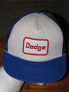 6b6aa86b1bd Vintage DODGE Motor Company Trucker Cloth Mesh Snap Back HAT CAP Red White  Blue  fashion  clothing  shoes  accessories  mensaccessories  hats (ebay  link)
