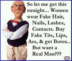 ... But Want A Real Man