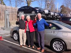 """Ardmore Toyota congratulates Samuel and Carol on their all new 2015 Toyota Camry in Crème Brulee Mica! We hope you enjoy every moment in your #BoldNewCamry! Thanks for taking a picture with your Sales Professional with Steve! Thank you from Steve, Tech Genius Peter and everyone at Ardmore Toyota!"""" #OhWhatAFeeling #Happy #SpringTime"""
