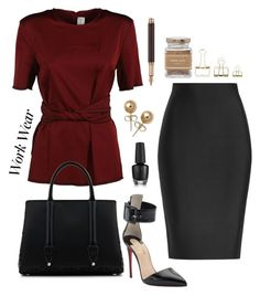 """""""Untitled #195"""" by hollybreann ❤ liked on Polyvore featuring Victoria Beckham, Roland Mouret, Christian Louboutin, La Perla, Bling Jewelry, Caran d'Ache, HAY, Forever 21, WorkWear and 60secondstyle"""