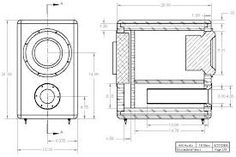 Do-It-Yourself (DIY) subwoofer project using the 10 inch HiVi subwoofer in a ported (bass reflex) enclosure. Car Speaker Box, Speaker Plans, Speaker Box Design, Speaker System, 10 Subwoofer Box, Subwoofer Box Design, Diy Speakers, Built In Speakers, Horn Speakers