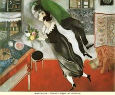 Marc Chagall. The Birthday. Olga's Gallery.