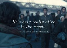 He's only real alive in the woods. Hunger Games Movies, Hunger Games Trilogy, Writing Inspiration, Character Inspiration, Shining Tears, Team Gale, I Volunteer As Tribute, Mocking Jay, Hunger Games Catching Fire