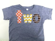 orange yellow chevron brown circle- two grey birthday shirt for 2nd Birthday Number - Fall Pumpkin Thanksgiving Turkey fall farm kids
