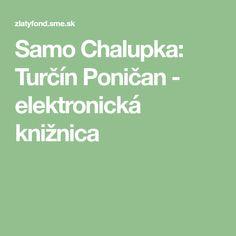 Samo Chalupka: Turčín Poničan - elektronická knižnica Samos