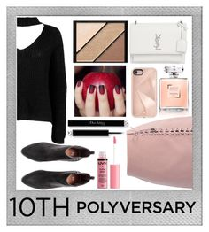 """""""Celebrate Our 10th Polyversary!"""" by adln99 on Polyvore featuring Polaroid, Boohoo, Chicwish, Yves Saint Laurent, Rebecca Minkoff, Elizabeth Arden, Charlotte Russe, polyversary and contestentry"""