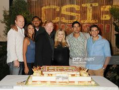 Rex Linn Eva La Rue Omar Miller David Caruso Emily Procter Adam Rodriquez and Jonathan Togo pose as CSI Miami celebrates their 200th episode at...