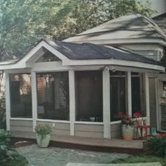 Screened in porch detached from house deck and patio for Detached screened porch