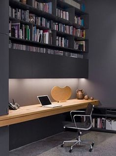 Home office decor is a very important thing that you have to make percfectly in your house. You need to make your home office decor ideas become a very awe Home Office Space, Office Workspace, Home Office Design, Home Office Decor, Office Furniture, House Design, Home Decor, Office Ideas, Office Designs