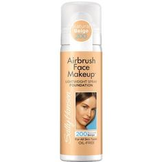Sally Hansen Airbrush Face Makeup Foundation, 200 Natural Beige, 1 oz - Walmart.com Ash u need 2 try this..it's pretty awesome...shake it spray if on the top of your hand, dip make-up brush in it apply..it's cheap & cover nicely...color run's a pinch darker than they show...so go lighter if possible..