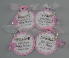 Personalized Its A Girl Baby Shower Favors Wine by TipsyDesigns, $2.50