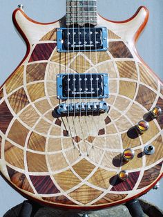 kaleidoscope electric guitar. $2,750.00, via Etsy.