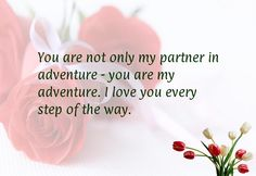 You are not only my partner in adventure - you are my adventure. I love you every step of the way.