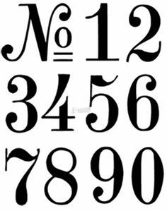 Letter Stencils & Reusable Number Stencils - Alphabet Stencils - Trend Design Home App 2019 Number Stencils, Free Stencils, Stencil Templates, Printable Stencils, Free Printable, Clock Face Printable, Number Templates, Printable Vintage, Templates Free