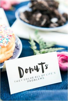 Learn how to craft your own donut bar using simple glazed donuts and a slew of toppings like oreos and sprinkles. This is the perfect dessert bar for showers, birthday parties or even small brunch get. Diy Donut Bar, Diy Donuts, Donut Party, Rupi Kaur, Wedding Food Bars, Wedding Cakes, Party Food Buffet, Donut Glaze, Food Stations