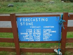 The Forecasting Stone. Checking the Hebridean weather forecast at Berneray, Outer Hebrides. Credit: Bill Wanley