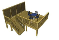 Design Ideas For Your Deck Building Design Plan, Building A Deck, Free Deck Plans, Freestanding Deck, Easy Deck, Deck Construction, Privacy Walls, Pool Decks, Deck Design