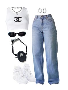 Indie Outfits, Teen Fashion Outfits, Cute Casual Outfits, Retro Outfits, Look Fashion, Swag Outfits For Girls, Vintage Outfits, Womens Fashion, Mode Ulzzang