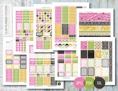 Free Printable Damask Love Weekly Planner Stickers Set from Planner Addiction