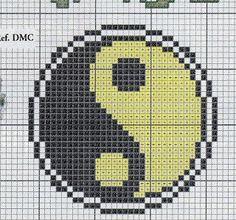 Yin yang cross stitch