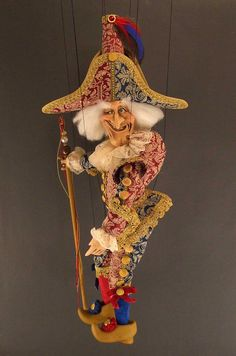 Large Polichinelle Marionette