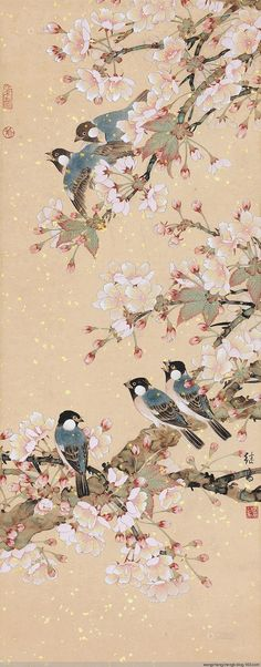 웃유 Korean Painting, Japanese Painting, Chinese Painting, Japanese Prints, Japanese Art, Pictures To Paint, Art Pictures, Aesthetic Japan, Aesthetic Painting