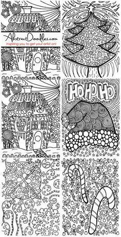 Skip the downloading of these...give your students a doodle challenge using the holiday theme of their choicel