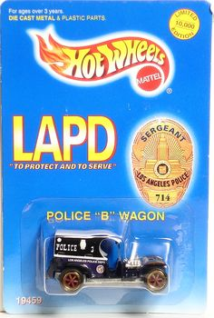 LAPD Paddy Wagon Limited Edition Hot Wheels