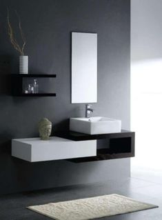 ideas fancy modern bathroom sinks and faucets using rectangular vessel basins on…