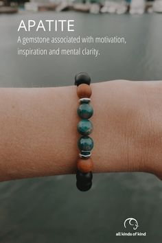 Made from a common group of minerals, Apatite reminds us that knowing ourselves and what we're made of is the key to opening ourselves to the possibilites of the Universe. Allergy Free, Allergies, Minerals, Universe, Key, Gemstones, Group, Handmade, Inspiration