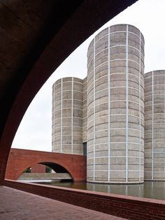 Louis Kahn's National Assembly building in Dhaka, the capital of Bangladesh.