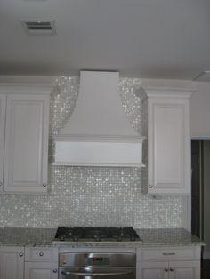Mixed Cloud White Glimmer glass tile  Bathroom
