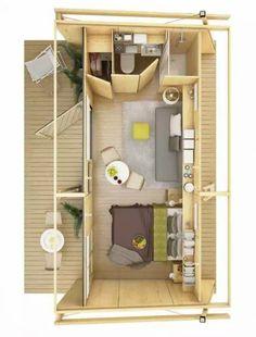 Page non trouvée - Small Spaces Addiction Prefab Cabins, Prefab Homes, Apartment Floor Plans, House Floor Plans, Simple House Design, Modern House Design, Tiny Spaces, Small Apartments, Diy Cabin