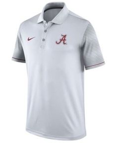 Nike Men s Alabama Crimson Tide Early Season Coach Polo Shirt - White M  Team Gear 87fb3da2d