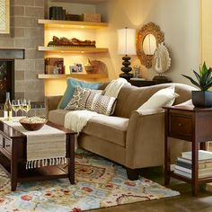 Abbie Sofa - Taupe  shown in room setting