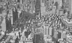 Os Impressionantes Desenhos de Stefan Bleekrode  Washington Square, Nova York