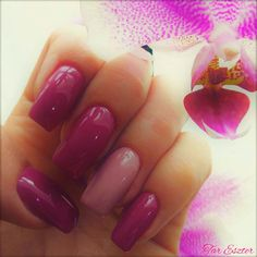 #nails #purple #nude #purplenails #nudenails #orchidea