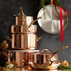 Mauviel Copper 12-Piece Cookware Set