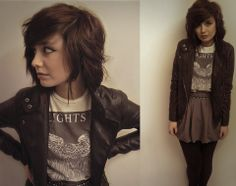 River Island Leather Jacket, Allsaints Graphic T Shirt, Topshop Skirt picture on VisualizeUs