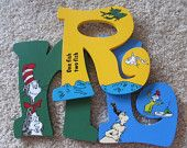 Dr. Seuss Nursery or Child's Room Hand-Painted Wooden Letters - Perfect Christmas or Baby Shower Gifts