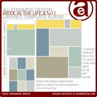 Week In The Life 8.5x11 Layered Template Album
